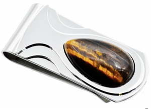 Tiger Eye Money Clip