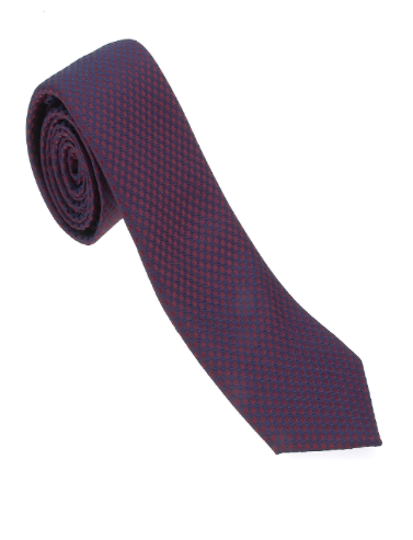 Red and Navy Geometric Necktie