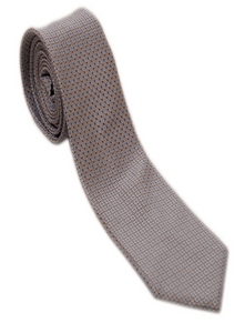 Brown Geometric Necktie