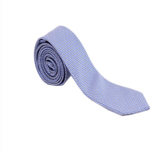 Blue/White/Black Pattern Geometric Necktie