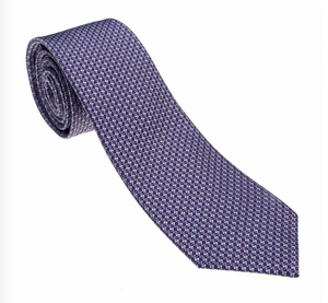 Purple/Green/Black Pattern Geometric Necktie