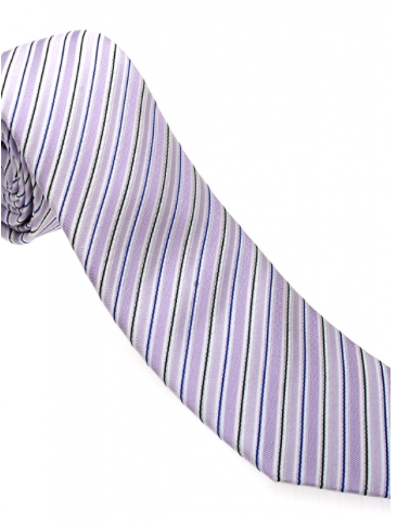 Pink/Black Striped Necktie