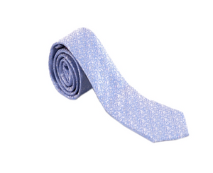 Light Blue and White Paisley Necktie