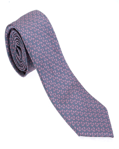 Blue and Pink Floral Necktie