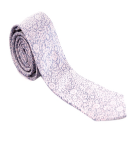 Light Pink and Purple Floral Necktie