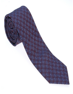 Red and Blue Check Necktie