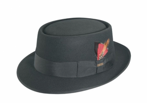Charcoal Pork Pie Hat