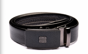 Black Belt with Designed Buckle