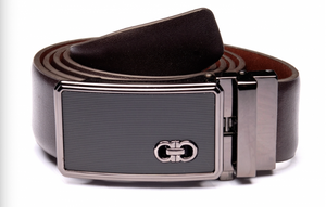 Brown Belt with Black Buckle