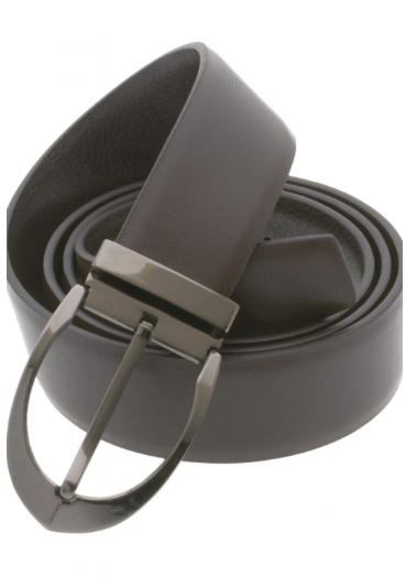 Traditional Brown Belt with Oval Buckle