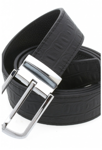 Traditional Black Belt with Silver Buckle