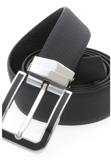 Traditional Black Belt with Silver Black Plated Buckle