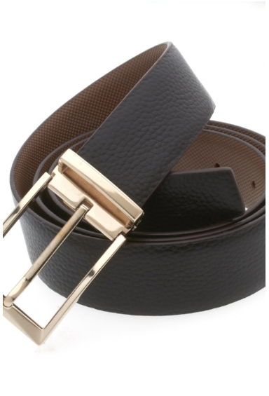 Traditional Black Belt with Gold Buckle
