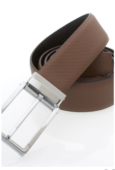 Traditional Light Brown Belt with Silver Buckle