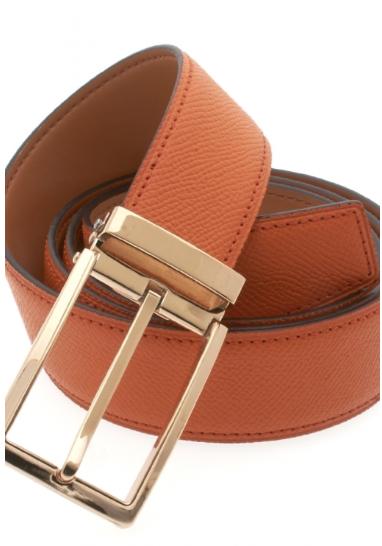 Traditional Orange Belt with Gold Buckle
