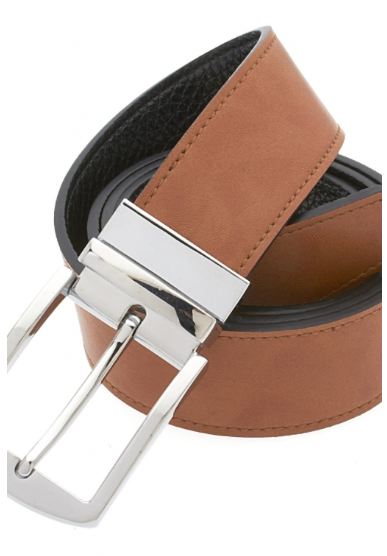 Traditional Brown Belt with Silver Buckle