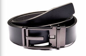 Traditional Black Belt with Oxidized Buckle