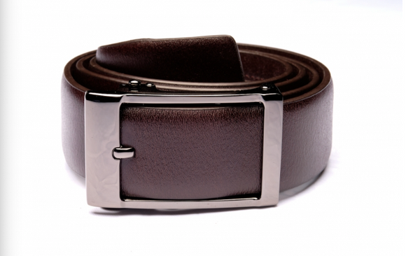 Traditional Brown Belt with Oxidized Buckle