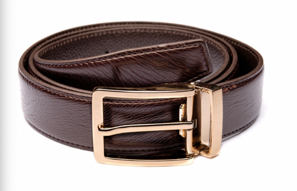Traditional Brown Belt with Gold Buckle