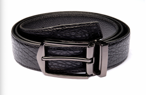 Traditional Black Textured Belt