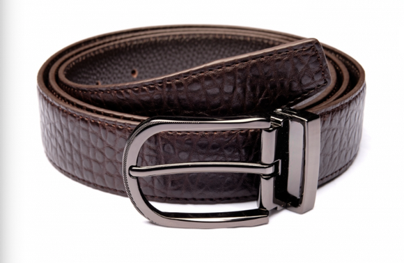 Traditional Brown Textured Belt