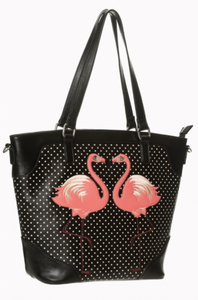 Black Polka Dot Blair Handbag