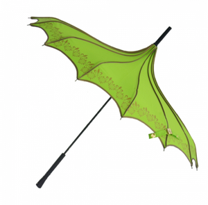 Green & Gold Vintage Pagoda Shaped Umbrella