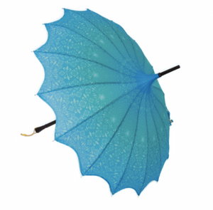 Ocean Fleur De Lis Vintage Pagoda Shaped Umbrella