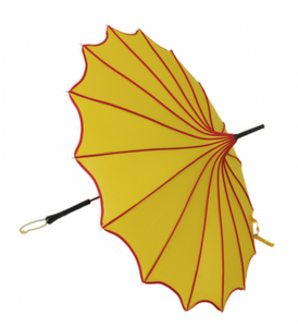 Yellow & Red Vintage Pagoda Shaped Umbrella