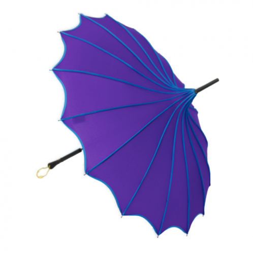 Purple & Blue Vintage Pagoda Shaped Umbrella