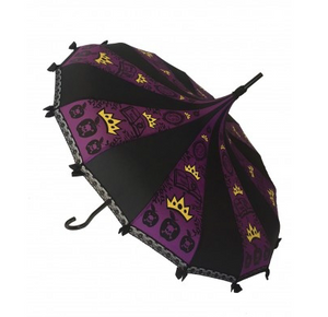 Black & Purple with Crowns Carousel Shaped Umbrella