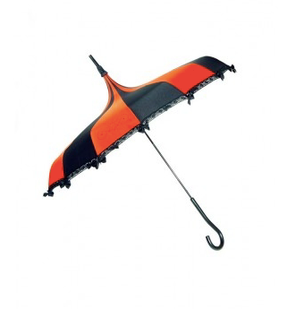 Black & Orange Carousel Shaped Umbrella