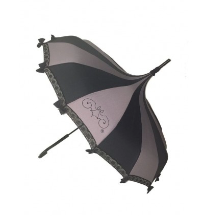 Black & Grey Carousel Shaped Umbrella