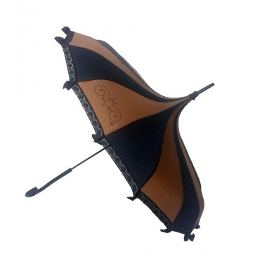 Black & Brown Carousel Shaped Umbrella
