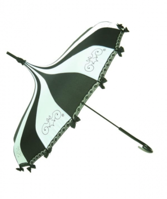 Black & White Carousel Shaped Umbrella
