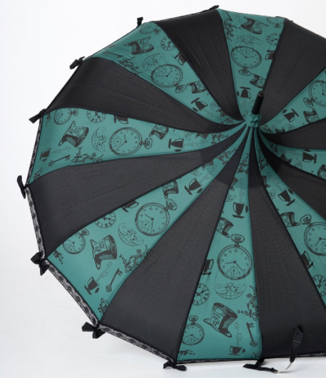 Tea Party Carousel Shaped Umbrella