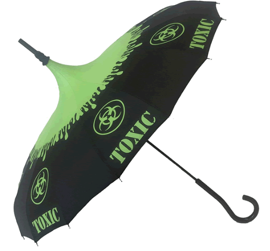 Toxic Carousel Shaped Umbrella
