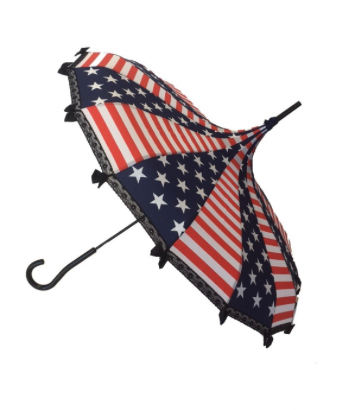 Fourth of July Carousel Shaped Umbrella