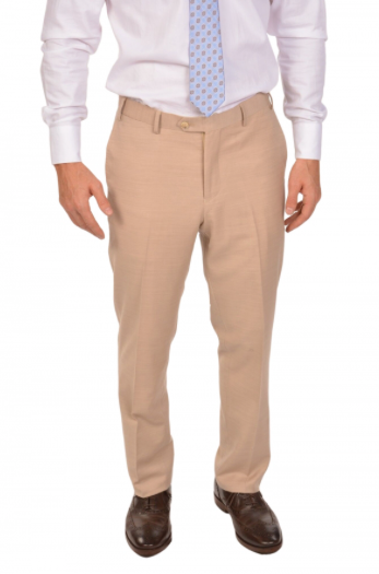 Beige Sport Fit Dress Pants