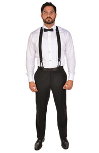 Black Tuxedo Sport Fit Dress Pants