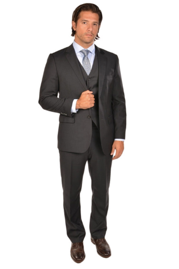 3 Piece Charcoal Sport Fit Suit