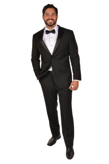 Black Notch Sport Fit Tuxedo