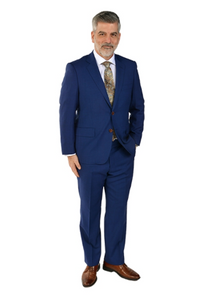 Royal Blue Classic Fit Suit