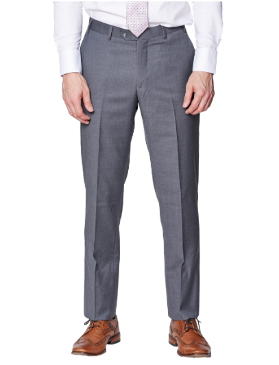 Medium Grey Slim Fit Dress Pants