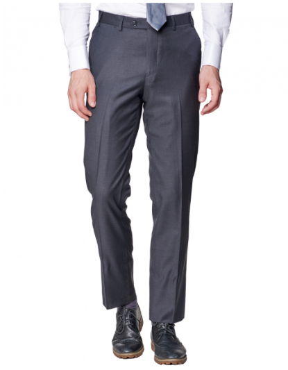 Charcoal Slim Fit Dress Pants