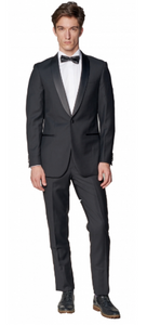 Black Tuxedo Slim Fit Dress Pants