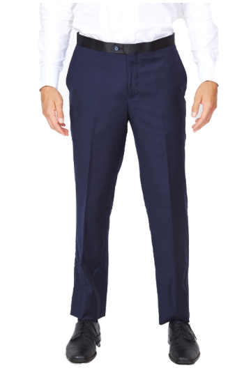Navy Tuxedo Slim Fit Dress Pants
