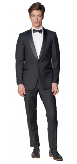 Black Slim Fit Tuxedo Jacket