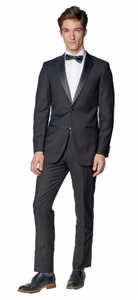 Slim Fit Black Notch Tuxedo