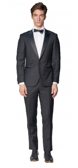 Slim Fit Black Peak Tuxedo